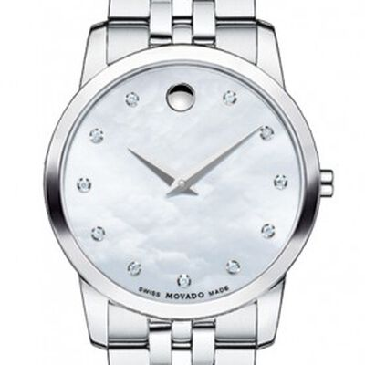 Movado Museum Mother-of-Pearl Diamond Markers Quartz Watch