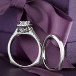Ikuma Canadian Diamond Princess Cut Bridal Set 14K