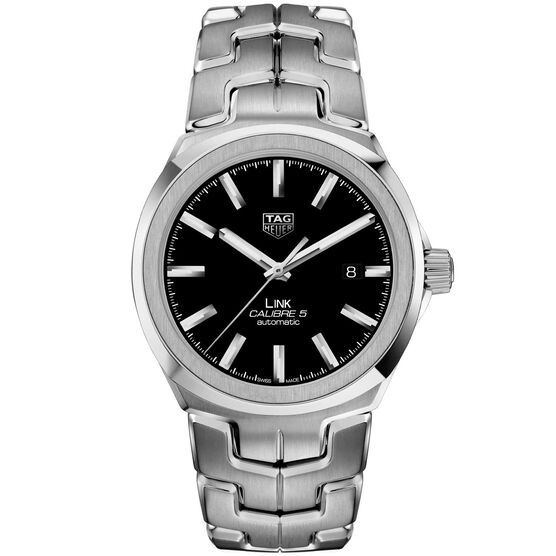 TAG Heuer Link Calibre 5 Automatic Mens Black Steel Watch