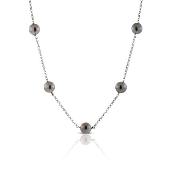 Cultured South Sea Tahitian Pearl Tin Cup Necklace 18K