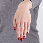 Two-Row Diamond Band Ring 14K