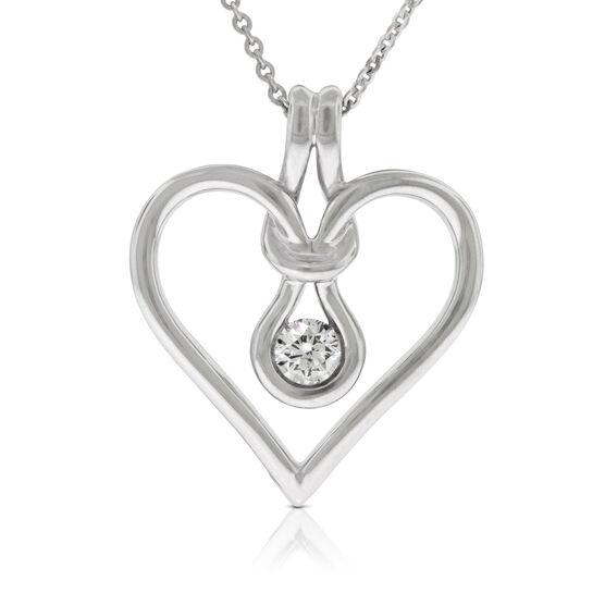 Everlon™ Diamond Knot Collection Heart Pendant 14K