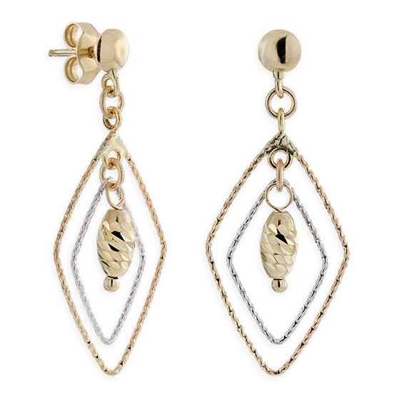 Open Marquise Dangle Earrings 14K