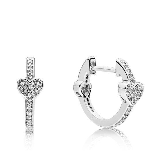 Pandora Alluring Hearts CZ Earrings