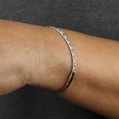 Diamond Bangle Bracelet 14K