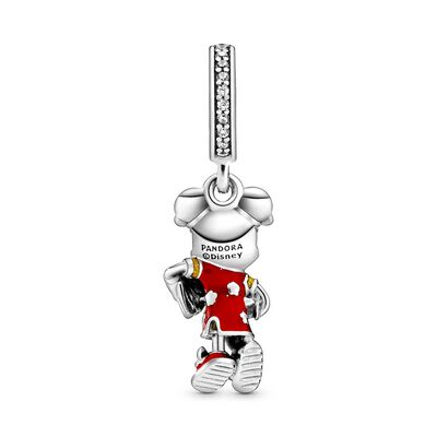Pandora Disney Minnie Mouse Chinese New Year Enamel & CZ Dangle Charm