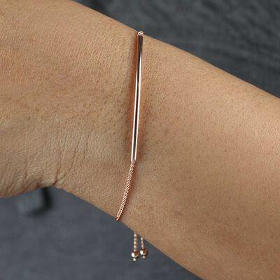 Rose Gold Bolo Bracelet 14K