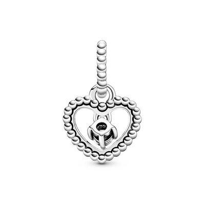 Pandora Milky White Crystal Beaded Heart Dangle Charm