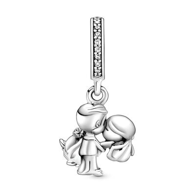 Pandora Married Couple CZ Dangle Charm