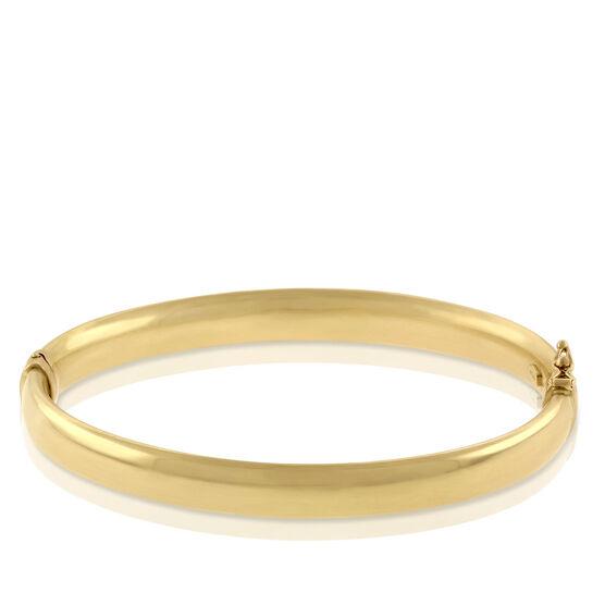 Toscano Oval Bangle Bracelet 18K