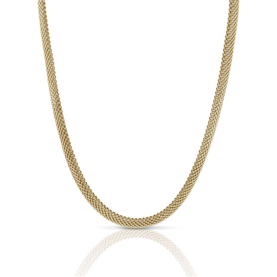 Toscano Bombay Mesh Necklace 18K