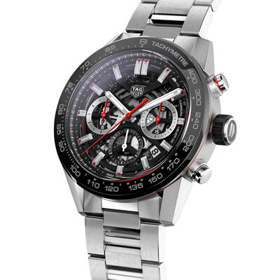 TAG Heuer Carrera Heuer 02 Skeleton Dial Watch, 45mm