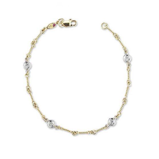 Roberto Coin Diamonds by the Inch 4-Station Diamond Bracelet 18K