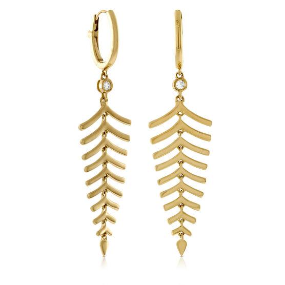 Roberto Coin Diamond Dangle Earrings 18K