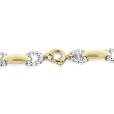 Toscano Diamond Cut Cushion Link Chain 14K