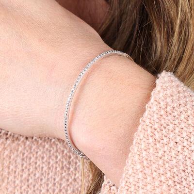 Diamond Bangle Bracelet 14K, 1 ctw.