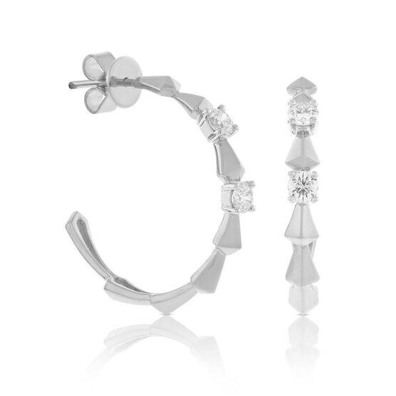 Jade Trau for Signature Forevermark Diamond Hoop Earrings in Platinum