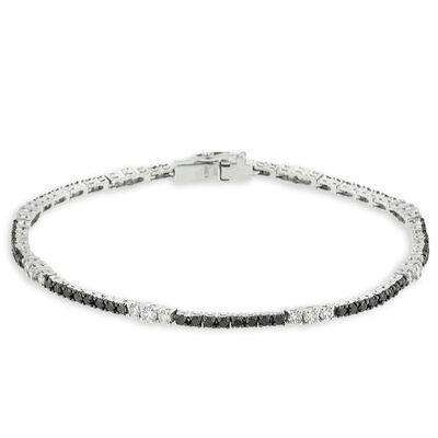 Black & White Diamond Bracelet 14K
