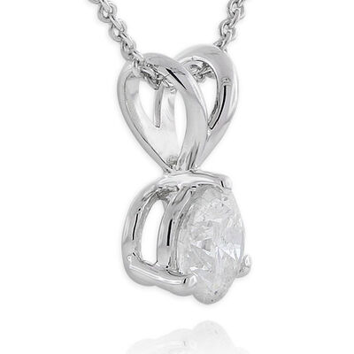 Diamond Solitaire Pendant, 14K, 1/2ct.