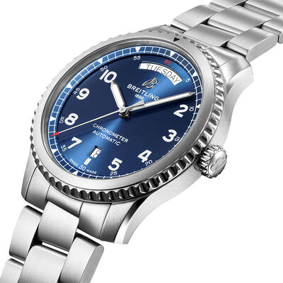 Breitling Aviator 8 Automatic Day & Date 41 Blue Dial Watch