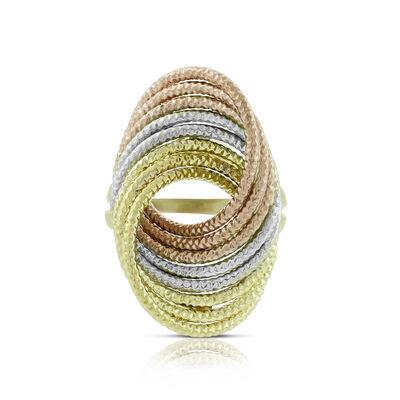 Toscano Tri-ToneArabesque Ring 14K
