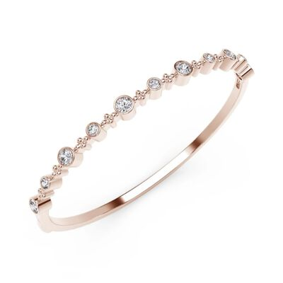 Forevermark Tribute Rose Gold Diamond Bangle 18K