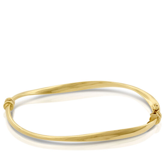 Soft Twisted Bangle Bracelet 14K