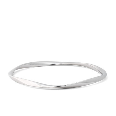 Lisa Bridge Twist Bangle Bracelet in Sterling Silver