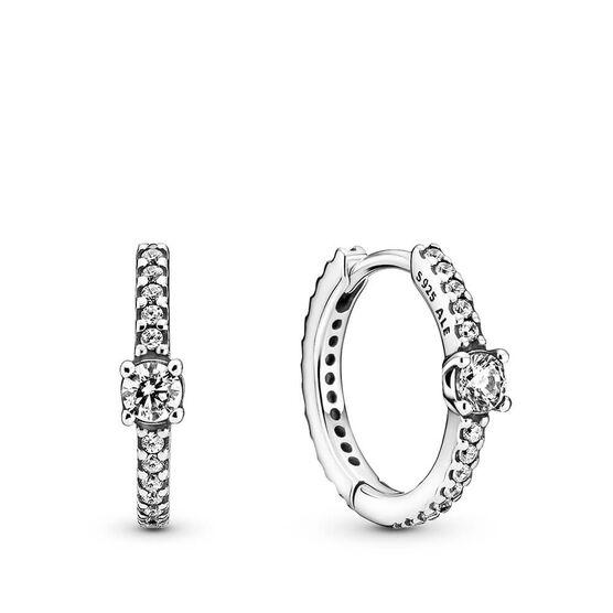 Pandora Sparkling CZ Hoop Earrings