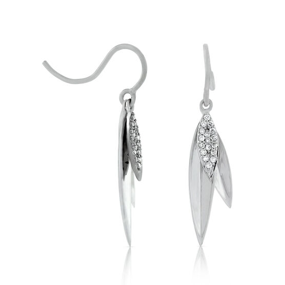 Diamond Marquise Shape Dangle Earrings 14K