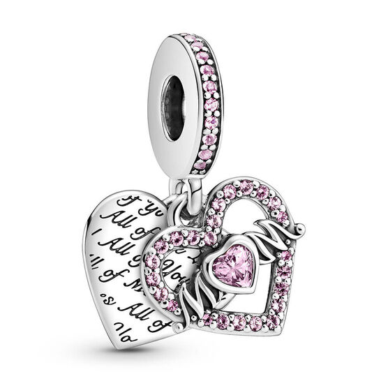 Pandora Heart & Mom Crystal & CZ Dangle Charm