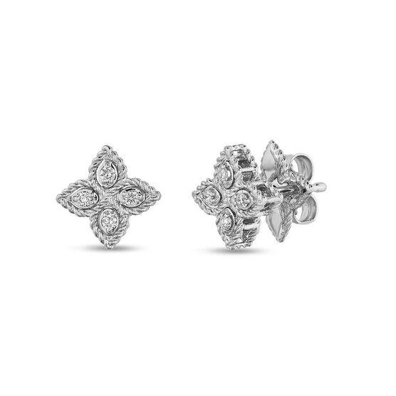 Roberto Coin Princess Flower Diamond Earrings 18K