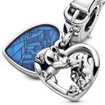 Pandora Disney Lady and the Tramp Heart Enamel & CZ Dangle Charm