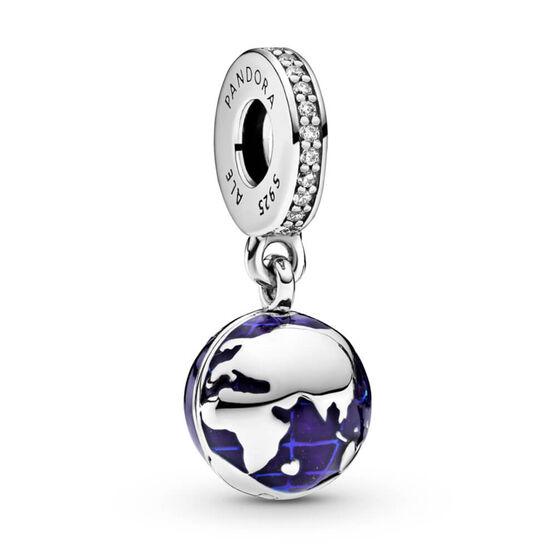 Pandora Our Blue Planet Enamel & CZ Dangle Charm