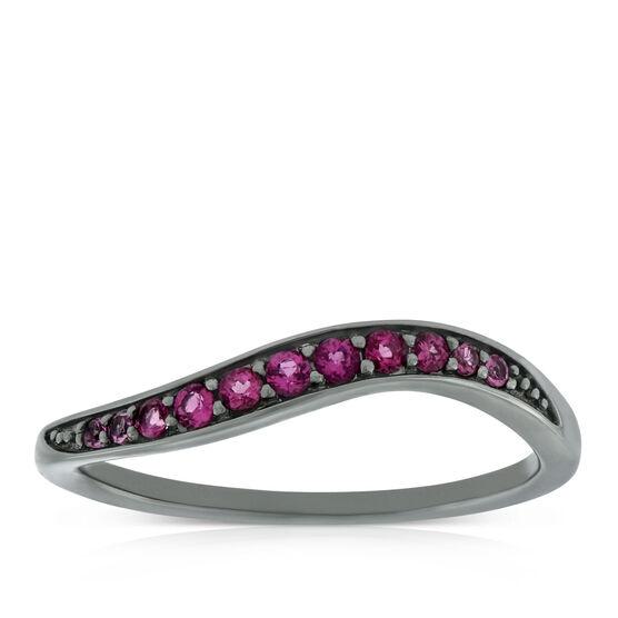Lisa Bridge Pink Tourmaline Wave Ring