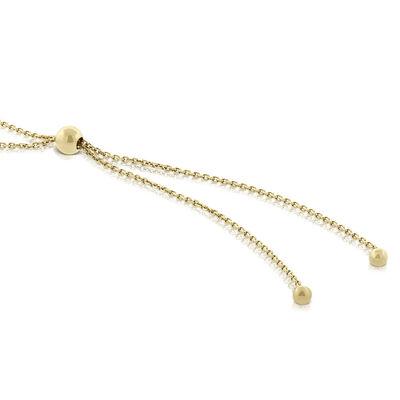 Cultured Freshwater Pearl Bolo Bracelet 14K