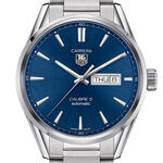 TAG Heuer Carrera Calibre 5 Day Date Automatic Mens Blue Steel Watch