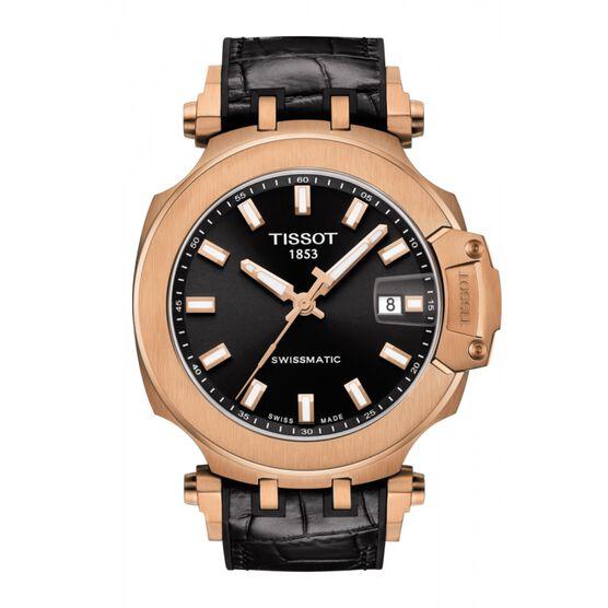 Tissot T-Race Swissmatic Rose Gold PVD Watch, 48mm