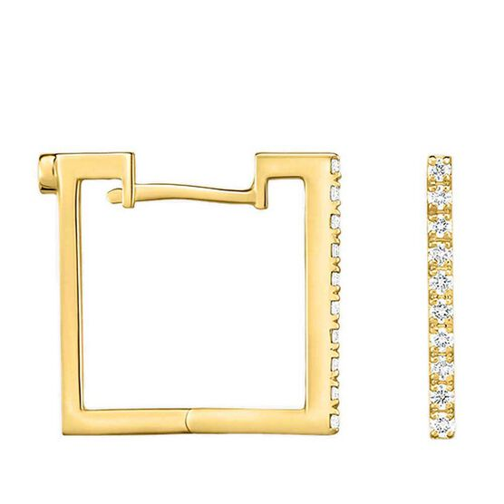 Roberto Coin Perfect Diamond Square Hoop Earrings 18K