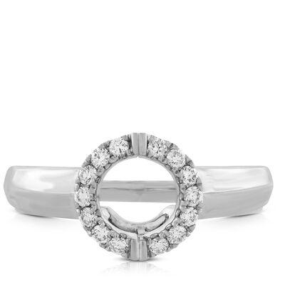 Diamond Insert Ring 14K