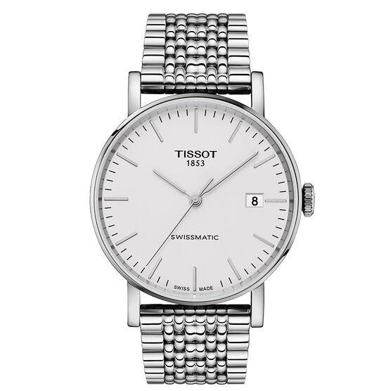 Tissot Everytime Swissmatic Silver Dial Steel Watch, 40mm