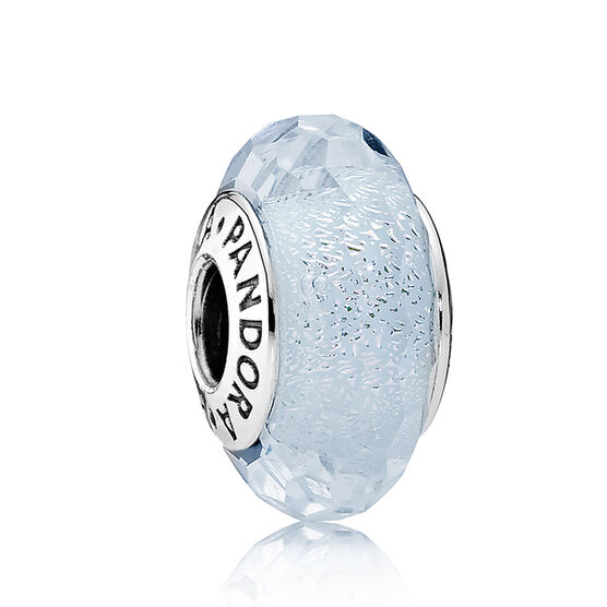 PANDORA Frosty Mint Shimmer Glass Charm