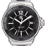 TAG Heuer Formula 1 Steel & Black Ceramic Diamond Bezel Watch