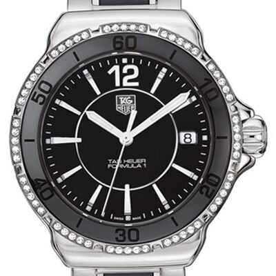 TAG Heuer Formula 1 Steel & Black Ceramic Diamond Bezel Watch
