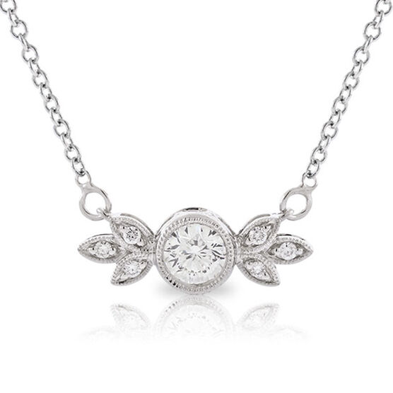 Signature Forevermark Bezel Set Diamond Necklace 18K