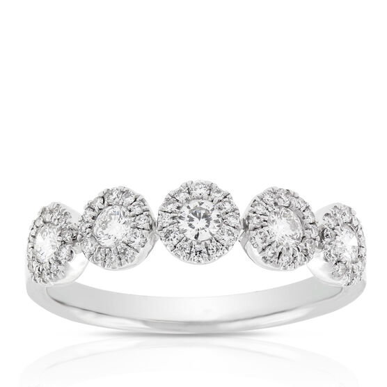 Halo Diamond Band 14K