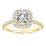 ArtCarved Lenore Diamond Semi-Mount Ring 14K