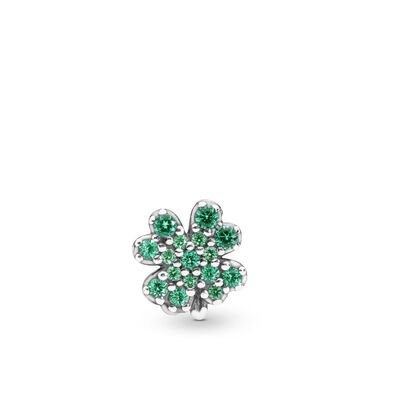 Pandora Radiant Green Clover Petite Element Crystal Locket Charm