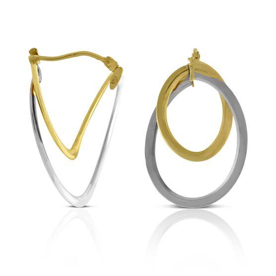 Double Hoop Earrings 14K