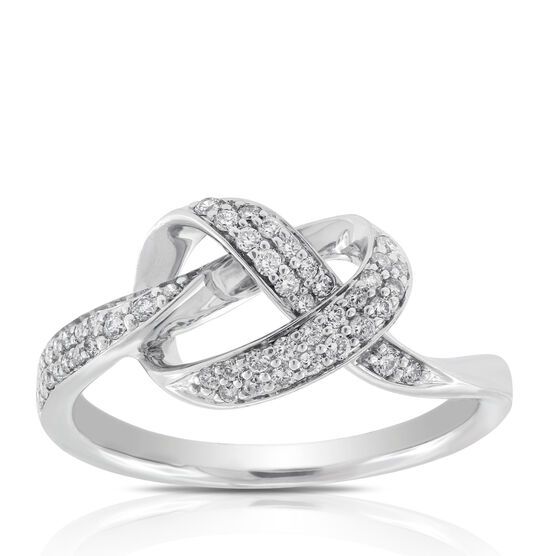 Diamond Knot Ring 14K